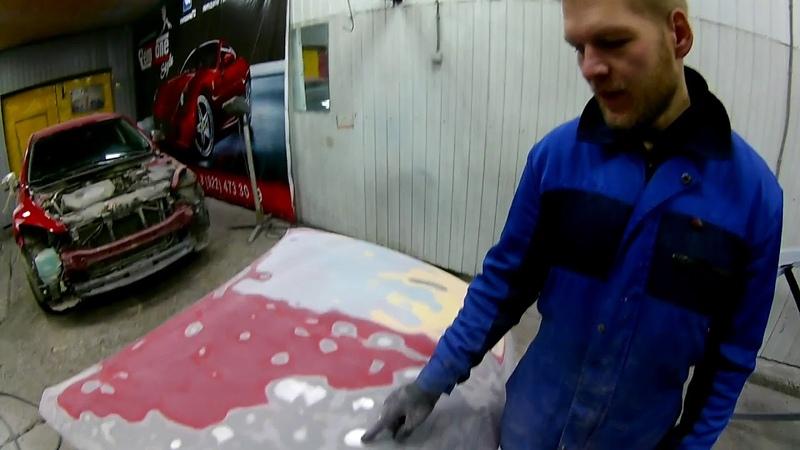Ремонт и покраска MAZDA 6 - красный перламутр