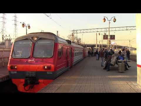 Электропоезд ЭД4М 0232 с приветливой бригадой