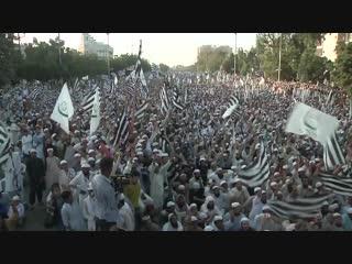 На улицах Карачи тысячи сторонников исламистских партий протестуют против освобождения #AsiaBibi.