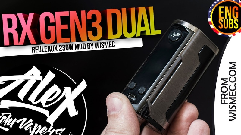 Reuleaux RX GEN3 Dual 230W l by Wismec l РОЗЫГРЫШ l ENG SUBS l Alex VapersMD review 🚭🔞