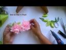 Лилия из Атласных лент Резинки для волос Мастер Класс Lirio de cintas de ras Y