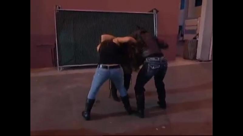 Huge Brawl Involving The TNA Knockouts