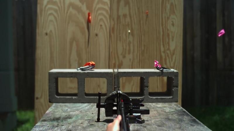 Splitting Pellets with a Knife in Slow Motion