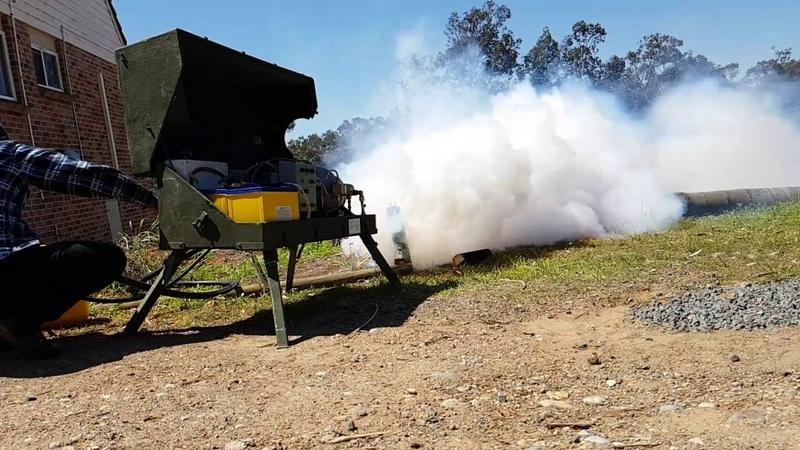 SG-18 turbine jet engine full smoke test.