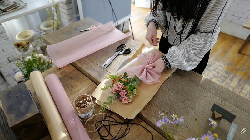 케이라플레르(Keira Fleur) 한송이 꽃다발 포장법, 플로리스트, 플라워레슨, 플라워클