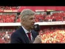 Arsene Wenger speaks to the fans for the final time at the Emirates