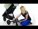 Установка подножки для старшего ребенка на коляску Baby Jogger