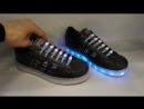 Кроссовки Adidas Superstar черные со светящейся подошвой