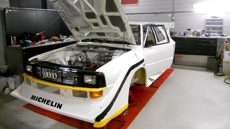 Audi Quattro S1 E2 replica 2.2 Turbo Built Story Group B PURE SOUND Overhaulin
