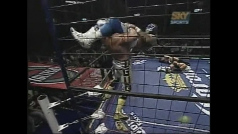 [My1] (2007.09.28) - 8-Man Cage of Death - Loser loses mask or shaved bald - Mistico vs. Hijo del Perro Aguayo vs. Villano V v