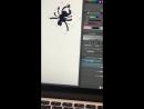 画面にクモ落ちてきたからクモ描いて戦わせてた
