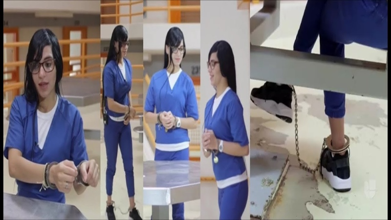 Cute Girl Ashley Marie Feliciano Handcuffed Shackled in Prison Jumpsuit For Murder