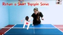 How to Return a Short Topspin Serve-Yangyang's table tennis lessons