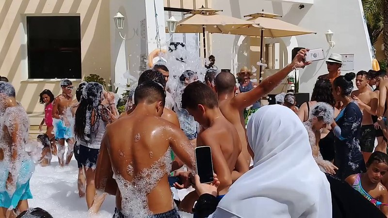 Hotel Residence Le Corail Hammamet Tunisie mousse party