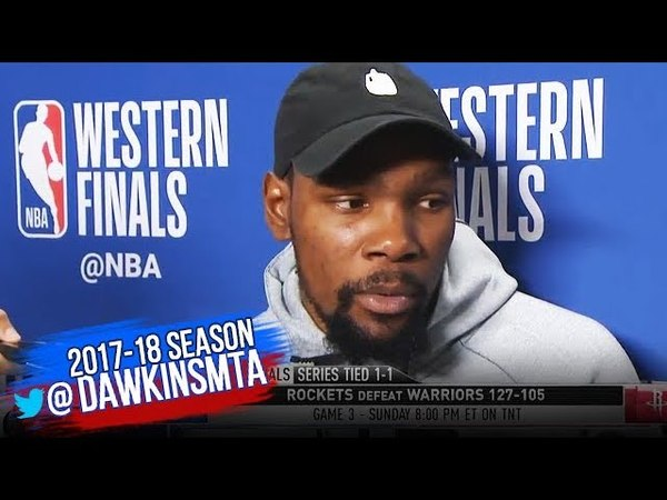 Kevin Durant Postgame Interview Warriors Rockets Game 2 2018 WCF FreeDawkins