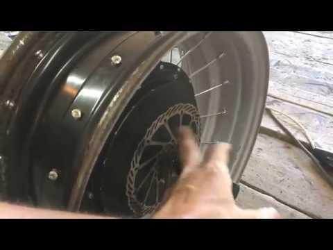 Спицовка автомобильного диска в мотор колесо