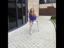 BBW amputee girl on crutches 1