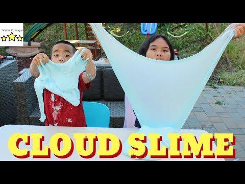 GIANT Fluffy Cloud Slime for kids