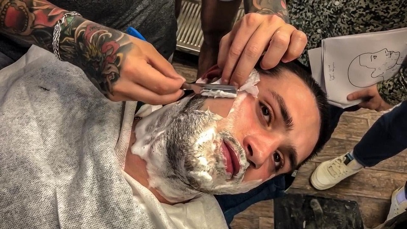 Как научиться брить опасной бритвой /Как научиться делать тушевку ножницами в мужской стрижке