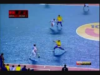 Futsal - Brazil 12x0 Roman (Amazing goal by Falcao)