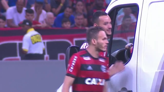 Players pushing ambulance off the field in a top league match in Brazil - HILARIOUS! · coub, коуб