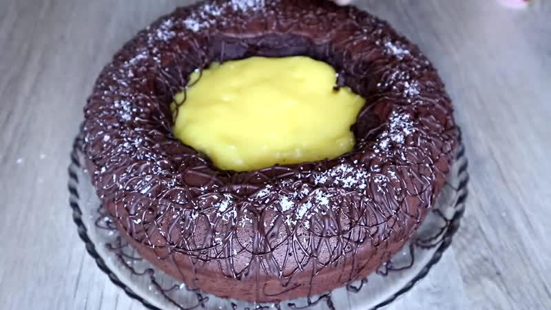 Потрясающе вкусный и эффектный пирог-торт «Вулкан»