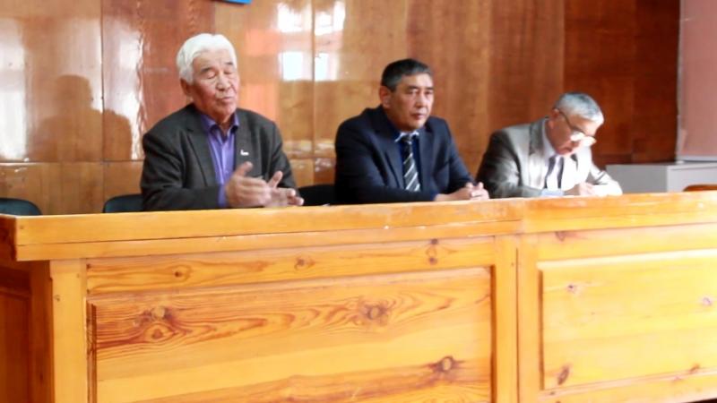 Встреча в Кош-Агачском районе с Б.К. Алушкиным, доверенным лицом кандидата в президенты В.В. Путина