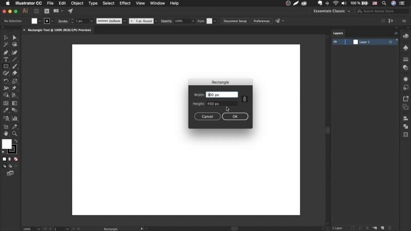 Как сделать прямоугольник в иллюстраторе - Rectangle Tool _ Урок Adobe Illustrator