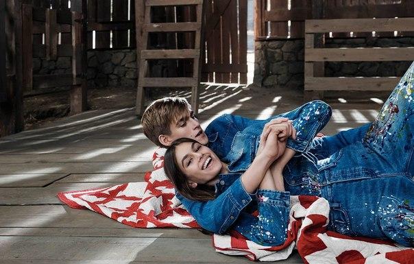 Новые снимки: Кайя Гербер с братом в рекламной кампании Calvin Klein Jeans