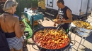 Paella and Street Food from Spain seen in Warsaw, Poland