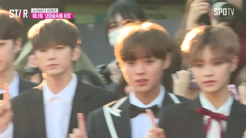 소리바다 어워즈 워너원 (Wanna One) 등장에 팬들 환호성 (현장)