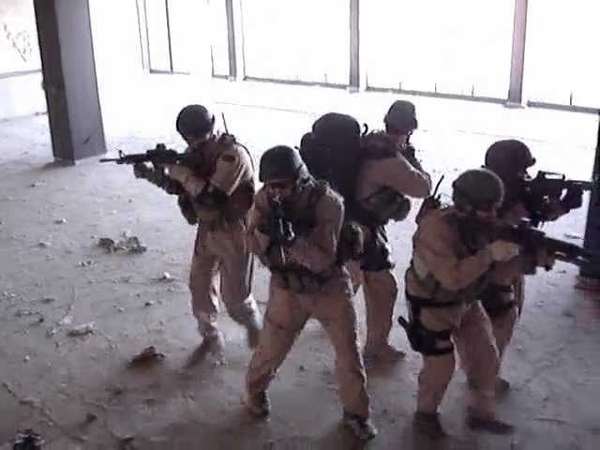 Blackwater Close Quarter Combat training in Baghdad