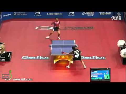 Powerful backhand against chop 2011 - WTTC Joo Se Hyuk (KOR) vs. Aleksandar Karakasevic