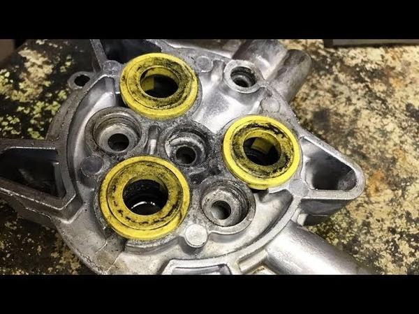 Мойка Karcher K5.20 работает рывками - ремонт клапана, разборка и сборка в деталях.
