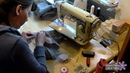 Building a fursuit head on a 3D mask 9 Sewing the fur part2