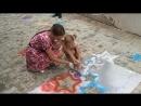 Рисуем звезды. Дети помогают )