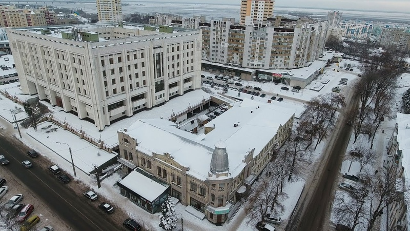 Зима в Черкассах с высоты Winter in Cherkassy from height in 4k DJI PHANTOM 4