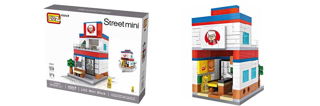 """Конструктор LOZ Street Mini """"KFC"""" 1605"""