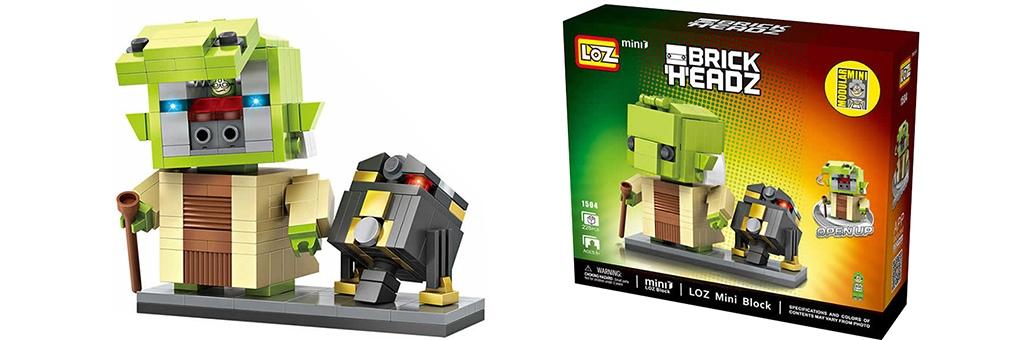 "Конструктор LOZ Star Wars BrickHeadz ""Мастер Йода и дроид R2-Q5"" 1504"