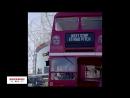 Большой красный автобус Жозе удачно припарковался на Эттихаде