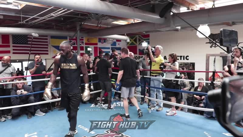 POWER ON FULL DISPLAY DEONTAY WILDER'S FULL MITT WORKOUT AS HE PREPARES FOR TYSON FURY power on full display deontay wilder'