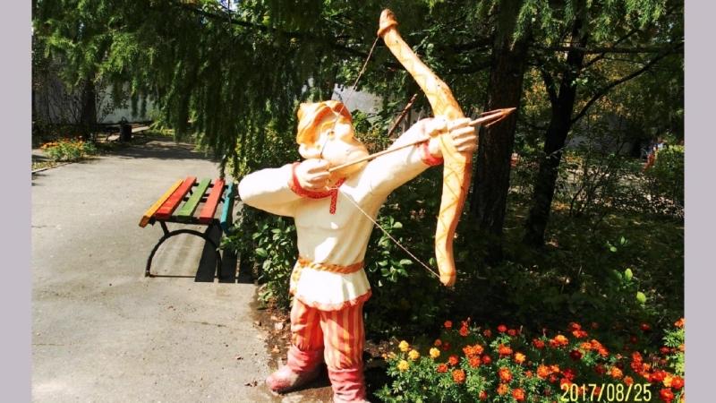 Аллея сказок и детский городок в городском парке г Междуреченска монтаж ua9upk.