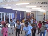 Frankie &amp Ariana teaching ABC with Broadway in South Africa!