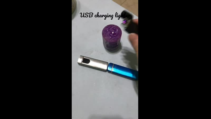New USB charging flameless Double Arc Windproof Plasma Touch sensing cigarette lighter electric pulse cigar Electronic lighters