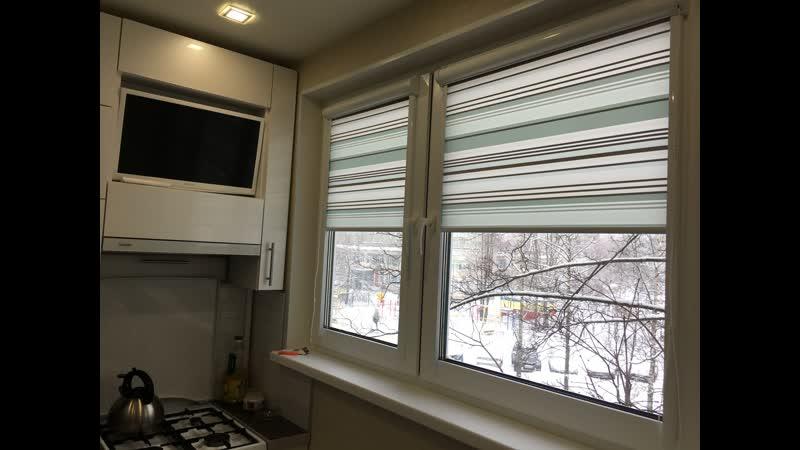 Рулонные шторы Uni2 ткань Регата св.бирзовый - Просвещения 2025