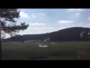 U S Army Humvees falling to the ground in airdrop exercise