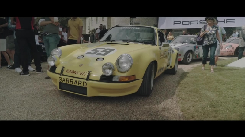 Hurley Haywood and his 1973 Porsche 911 2.7 RS at the Goodwood Festival of Speed