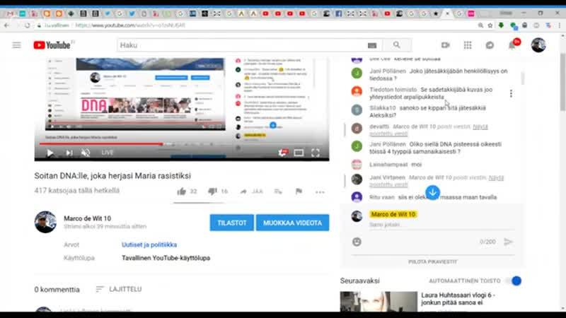 23 07 2018 Soitan DNA lle joka herjasi Maria rasistiksi YouTube 360p