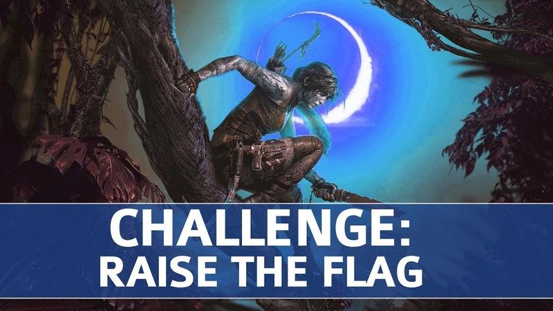 Испытания SotTR. Сеноты. Поднять Флаги (Поднять 5 флагов в миссии, перерезав веревку на шкифах)