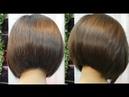 Bob hair cut tutorial beautiful for thick 💇 ตัดผมบ๊อบ สำหรับผมหนามาก